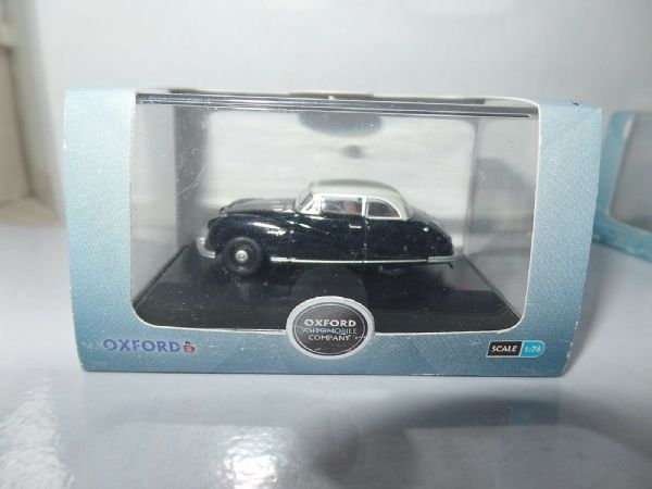 Oxford 76ATL003 ATL003 1/76 OO Scale Austin Atlantic Saloon Black Grey Gaydon